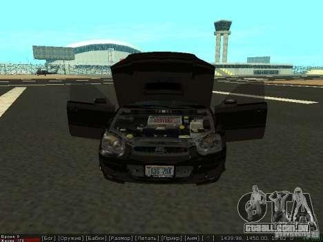 Subaru Impreza WRX para GTA San Andreas vista direita