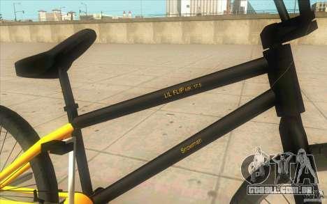17.5 BMX para GTA San Andreas vista direita