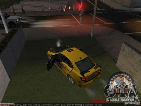 Lexus IS300 para GTA San Andreas vista traseira