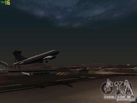 Airbus A319 United Airlines para GTA San Andreas vista interior