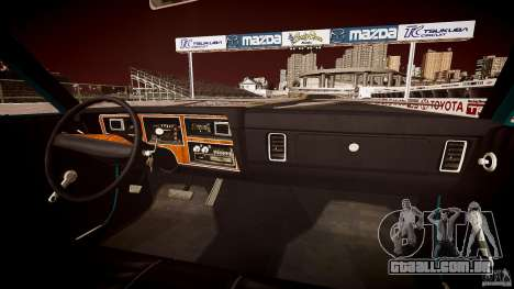 Dodge Aspen v1.1 1979 yellow rear turn signals para GTA 4 vista inferior