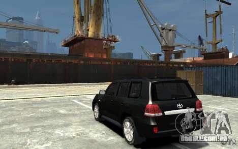 Toyota Land Cruiser 200 para GTA 4 traseira esquerda vista