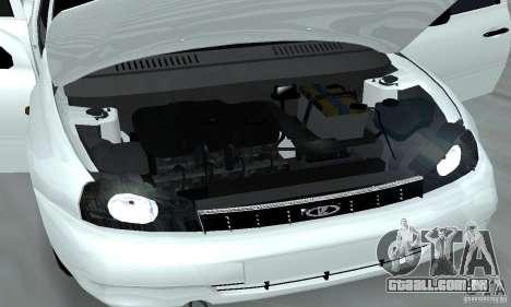 Lada Kalina Hatchback Stock para GTA San Andreas vista interior