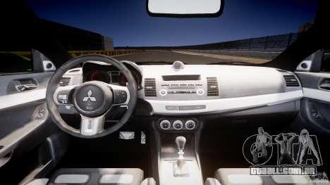 Mitsubishi Lancer Evolution X Tuning para GTA 4 vista direita
