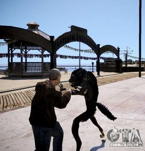 Werewolf from Skyrim para GTA 4 por diante tela
