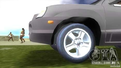 Hyundai Sante Fe para GTA Vice City vista traseira esquerda