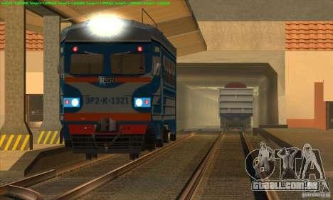 Aumento de transporte de trens para GTA San Andreas segunda tela