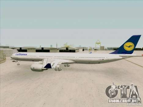 Airbus A-340-600 Lufthansa para GTA San Andreas vista direita