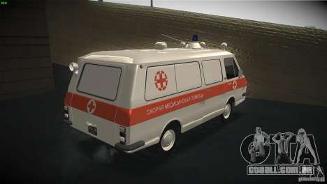 RAF 22031 ambulância para GTA San Andreas vista direita