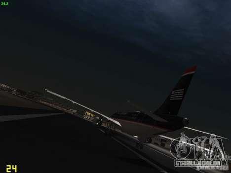 Airbus A319 USAirways para GTA San Andreas traseira esquerda vista