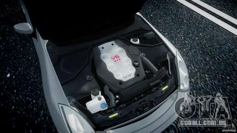 Infiniti G35 Coupe 2003 JDM Tune para GTA 4 vista de volta