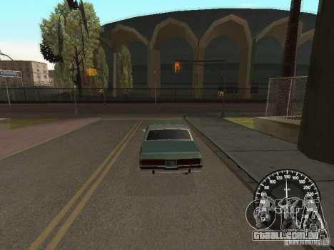 Velocímetro Audi para GTA San Andreas segunda tela