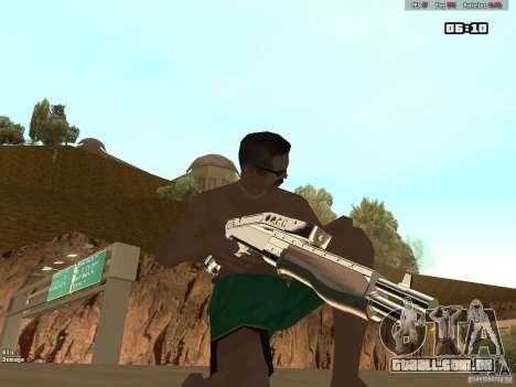 Weapon Pack V1.0 para GTA San Andreas por diante tela