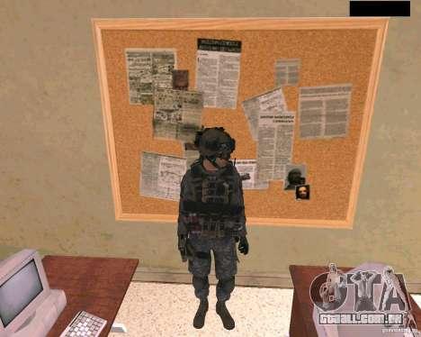 Pele do soldado do Cod MW 2 para GTA San Andreas