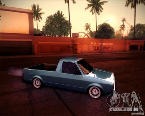 Volkswagen Caddy Custom 1980 para GTA San Andreas vista direita