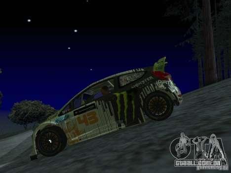 Ford Fiesta Ken Block WRC para GTA San Andreas vista traseira