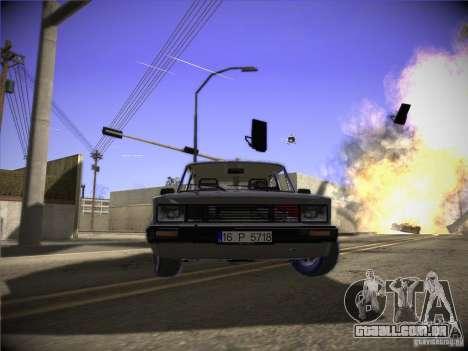 Tofas 124 Serçe para GTA San Andreas esquerda vista