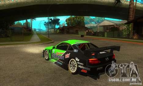 Nissan Silvia S15 - GT para GTA San Andreas traseira esquerda vista