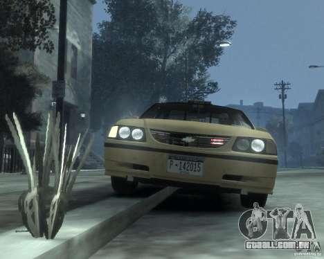 Chevrolet Impala 2003 Taxi para GTA 4 vista lateral