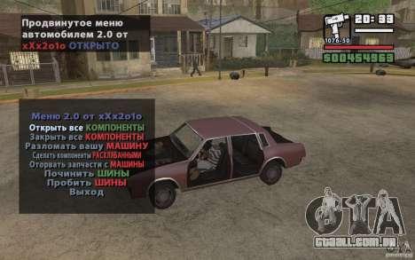 Extreme Car Control v.2.0 para GTA San Andreas terceira tela
