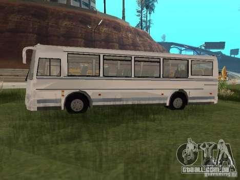 PAZ 4230 Aurora para GTA San Andreas traseira esquerda vista