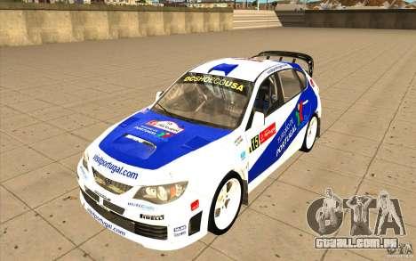 Subaru Impreza WRX STi com novo vinil original para GTA San Andreas interior
