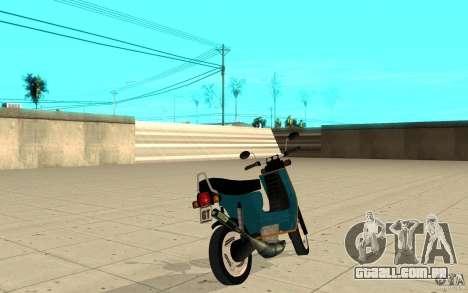 Simson SR50 tuned Big Bore 3 para GTA San Andreas traseira esquerda vista