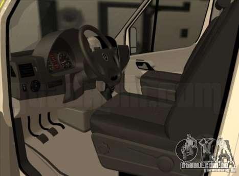 Mercedes Benz Sprinter SAAS para GTA San Andreas traseira esquerda vista