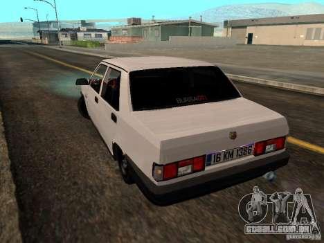 Tofas Sahin DRIFT para GTA San Andreas esquerda vista