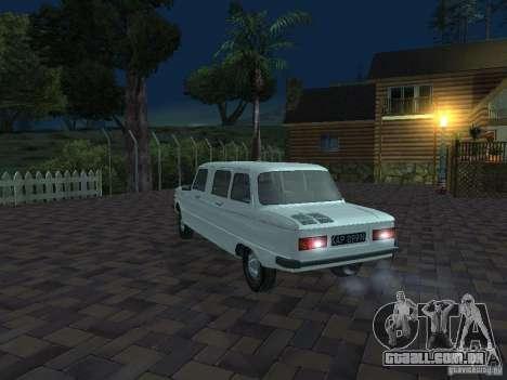 ZAZ 968M Limousine para GTA San Andreas vista inferior