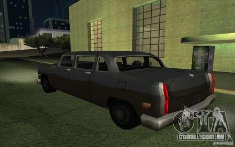 Civilian Cabbie para GTA San Andreas esquerda vista