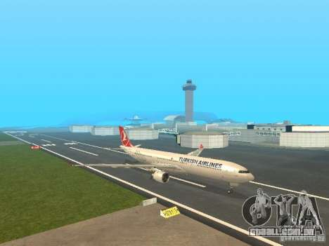 Airbus A330-300 Turkish Airlines para GTA San Andreas esquerda vista