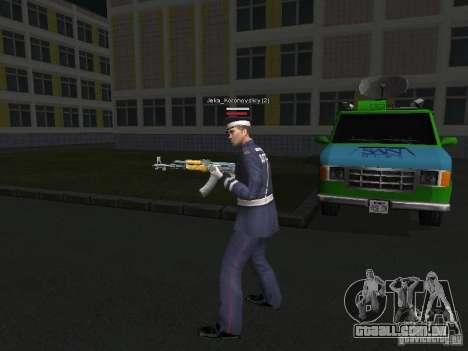 Peles de milícia para GTA San Andreas quinto tela
