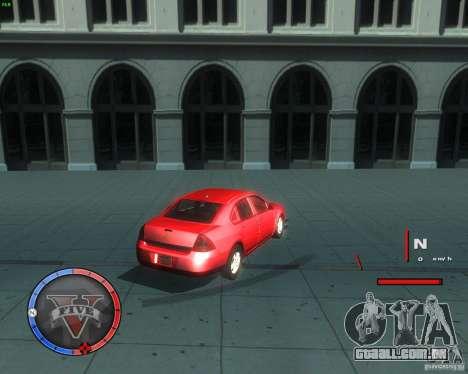 Chevrolet Impala 2008 para GTA San Andreas traseira esquerda vista