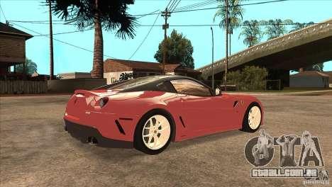 Ferrari 599 GTO 2010 V1.0 para GTA San Andreas vista direita