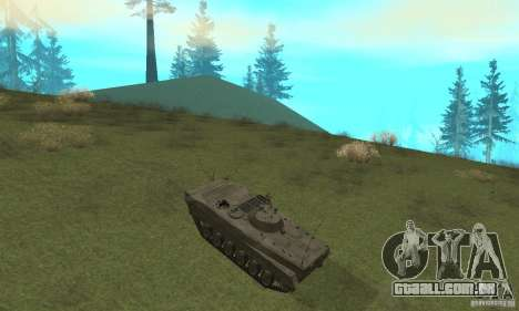 BMP-1 cinza para GTA San Andreas vista traseira