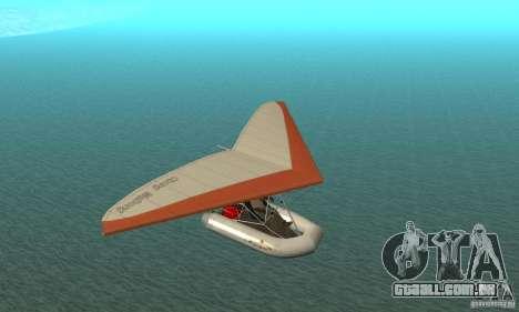 Wingy Dinghy (Crazy Flying Boat) para GTA San Andreas vista traseira