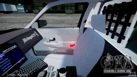 Ford Crown Victoria Massachusetts Police [ELS] para GTA 4 vista de volta