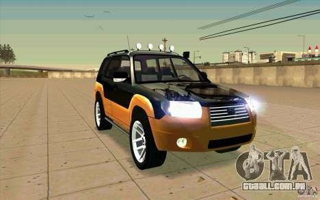 Subaru Forester Cross Sport 2005 para vista lateral GTA San Andreas