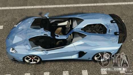Lamborghini Aventador J 2012 para GTA 4 vista direita