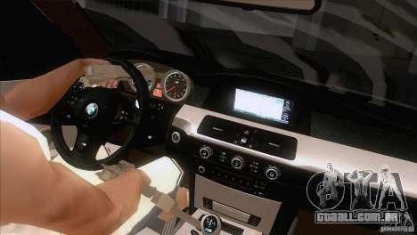 BMW M5 2009 para GTA San Andreas interior