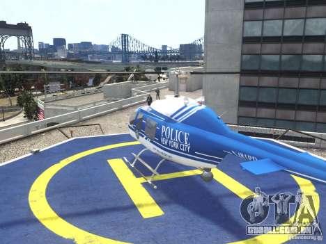Bell 206 B - NYPD para GTA 4 traseira esquerda vista