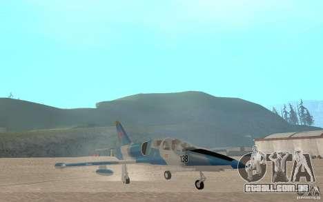 L-39 Albatross para GTA San Andreas vista interior