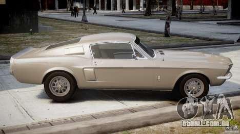 Shelby GT500 1967 para GTA 4 vista lateral