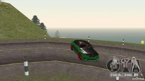 BMW M5 E60 Darius Balys para GTA San Andreas vista inferior