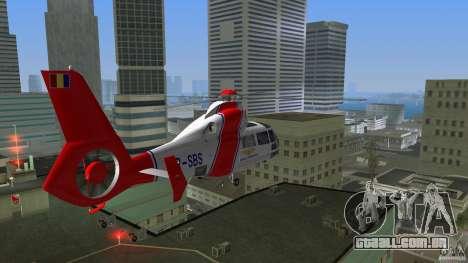 Eurocopter As-365N Dauphin II para GTA Vice City vista interior