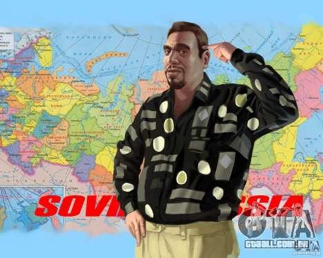 Tela de boot Rússia na América para GTA 4 quinto tela