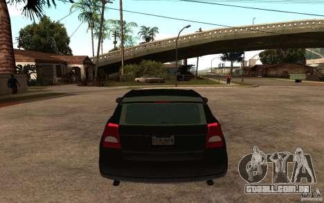 Dodge Caliber para GTA San Andreas traseira esquerda vista