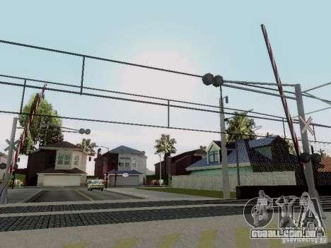 FERROVIÁRIA atravessando RUS V 2.0 para GTA San Andreas por diante tela