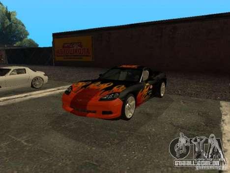Chevrolet Corvette C6 para vista lateral GTA San Andreas
